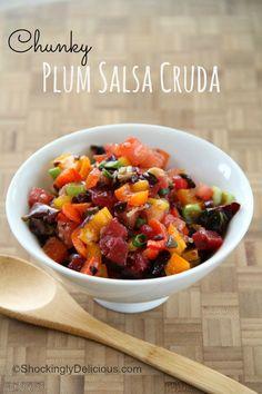 Chunky Plum Salsa Cr