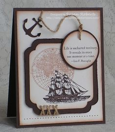 MARTHA STEWART Anchor SPELLBINDERS Nestabilities Labels 12 STAMPIN' UP! Circle 4.4cm/The Open Sea/Unchartered Territory