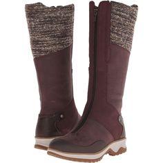Merrell Eventyr Cuff Waterproof Women's Zip Boots, Burgundy ($133) ❤ liked on…