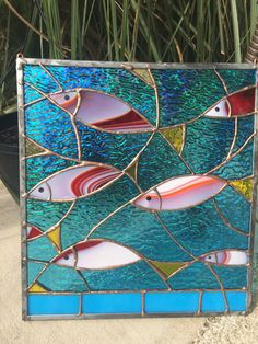 Items similar to Stained Glass Tropical Fish Sea Suncatcher Nautical Panel on Etsy Stained Glass Ornaments, Stained Glass Suncatchers, Stained Glass Flowers, Faux Stained Glass, Stained Glass Lamps, Stained Glass Designs, Stained Glass Panels, Stained Glass Projects, Stained Glass Patterns