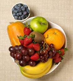 Turns out an apple a day (and an orange, kiwi, and banana) can keep the doctor away. Your healthy bowl of fruit should look like this.
