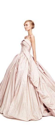 Zac Posen - a pale pink vision of a ballgown.