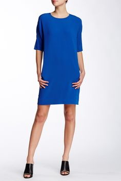 Elbow Length Sleeve Shift Dress by VINCE. on @nordstrom_rack