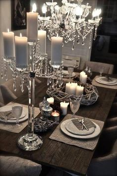 bcakeluvr silver decorationssilver tabledining room - Dining Room Table Settings