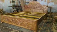 Wood Bed Design, Sofa Design, Bed Furniture, Furniture Design, Double Bed Designs, Wood Carving Designs, Cots, Wood Beds, Double Beds