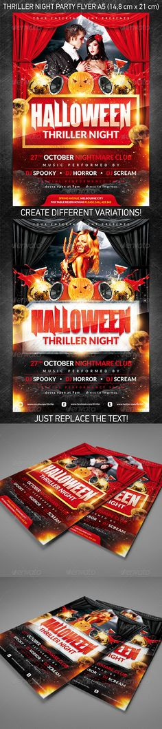 Halloween Thriller Night Party Flyer is perfect for any event that you are organizing that day in October at your club/bar!  You can download this poster PSD at the following link –  http://graphicriver.net/item/halloween-thriller-night-party-flyer/3160770?ref=4ustudio      More flyers and posters here: http://graphicriver.net/user/4ustudio?ref=4ustudio