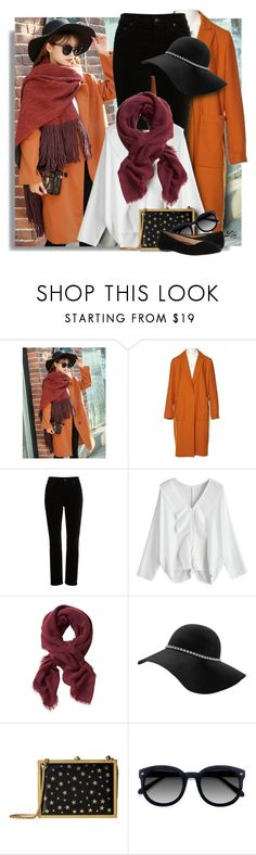 """Wrapper's Delight: Winter Scarf"" by breathing-style ❤ liked on Polyvore featuring WithChic, MSGM, Citizens of Humanity, Banana Republic, Alice + Olivia, Ace and Walking Cradles"