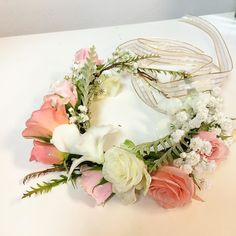 """fabulous vancouver florist Halo.. Hope the bride's little flower girl liked it. Thanks to May, teaching and watching me making this little halo, keep saying """"Be careful, Julie. It will be around a little girl's head. Always be careful with your wiring, always."""" #SunflowerFlorist #flower #flowers #halo #florist #van #vancity #vancouver hairflower @vancouverflower by @juliesjuly_flowers  #vancouverflorist #vancouverflorist #vancouverwedding #vancouverweddingdosanddonts"""
