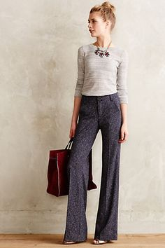 My favorite pants of all time. It's like wearing pjs. Flecked Brighton Trousers - anthropologie.com