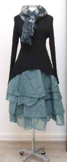 rostfrei by a. röstel - Kleid Tunika Asymmetrie black - Winter 2015