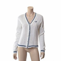 Vintage 60s 70s Fred Perry Britain Cardigan by CkshopperVintage