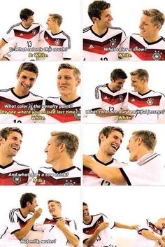 Funny Basti and Thomas - already saw the video, but now there's a pin for this!!