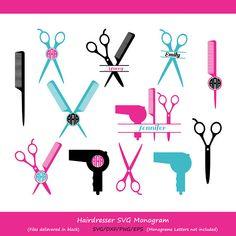 Hairdresser SVG Cut Files Hairstylist SVG Hairdresser