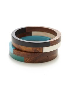 Color Block Bangle Bracelets