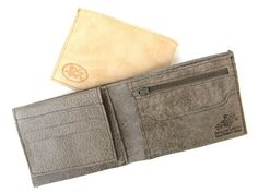 Men's Leather Wallet  in SMOOTH GREY No. 314 by AmielLeatherDesign, $47.00