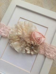 Peachcreamand beige vintage inspired lace by Abelialane on Etsy