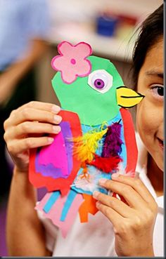 Imagine an awesome tree display! smART Class: Fun Friday Collage Birds (one day project)