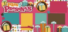 Piles Of Presents-Girl Page Kit  out on a limb scrapbooking