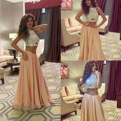 2015 prom dress,O-Neck prom dress,Two-Piece Prom Dress,sexy prom dress,http://moddress.storenvy.com/products/13062156-2015-prom-dress-o-neck-prom-dress-two-piece-prom-dress-sexy-prom-dress-custo