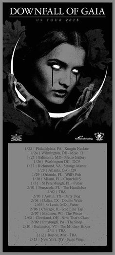 NEWS: The metal band, Downfall of Gaia, has announced a U.S. tour, for winter 2015. They will be touring in support of their latest album, Aeon Unveils The Thrones Of Decay. You can check out the dates and details at http://digtb.us/12VkSyH