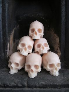 Life-Size Skull Candle by JohnnyBWilde
