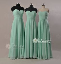 Bridesmaids dresses from Etsy.