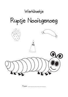 Werkbladen Rupsje Nooitgenoeg Toddler Preschool, Toddler Crafts, Felt Board Stories, Craft Quotes, Very Hungry Caterpillar, Eric Carle, Chenille, Niece And Nephew, School Hacks