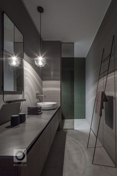 Wellness dům - MIRAMARI DESIGN Bathroom Lighting, Studios, Bathtub, Wellness, Mirror, House, Furniture, Home Decor, Bathroom Light Fittings
