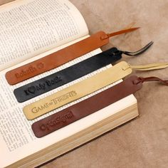 Personalised Leather Bookmark – JoyToken Diy Leather Gifts, Diy Leather Projects, Leather Diy Crafts, Book Lovers Gifts, Gift For Lover, Leather Accessories, Leather Jewelry, Crea Cuir, Personalized Bookmarks