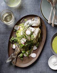 Steven Redzikowski's Recipe for Roasted Sea Bream With Jalapeño Vinaigrette