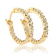 Sterling Silver Gold Vermeil Diamond CZ Pave Mini Huggie Earrings Bling Jewelry, Diamond Jewelry, Best Jewelry Stores, Sterling Silver Jewelry, Fashion Jewelry, Wedding Rings, Engagement Rings, Jewels, Mini