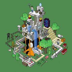 Minecraft World Art Print by mattchinworth | Society6