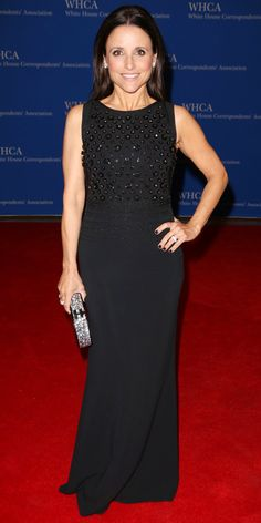 The Most Beautiful Dresses Worn to the 2014 White House Correspondents' Dinner - Julia Louis-Dreyfus from #InStyle