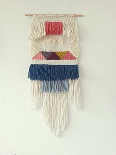 Hand Woven Wall Hanging, Woven Tapestry, Woven Textile Wall Hanging on Etsy, $95.00