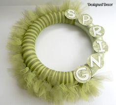 How to Make a Spring Tulle Wreath! / Designed Decor
