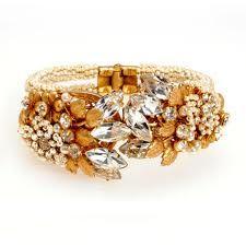 Miriam Haskell crystal cuff bracelet