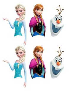 frozen cut out characters | Free Disney Frozen Printable for Cake Pops