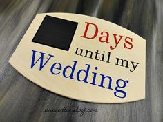 Countdown Signs Days Until My Wedding Sign Wooden by AllWoodToo