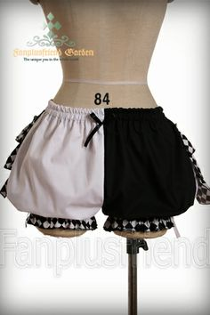 Cutie Cyber Lolita Tiered Bustle Ruffle Short Bloomers*2colors Instant Shipping.... Ruffled panniers are a great option if there is not enough flare to the skirt for a petticoat!