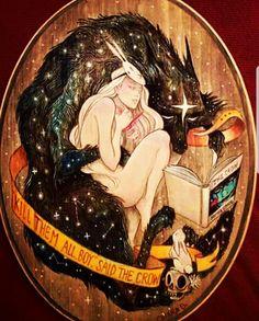 Art of Bunny Girl and Cosmio Wolf, by Chiara Bautista Chiara Bautista, Memes Arte, Bd Art, Art Moderne, Arte Pop, Art Graphique, Oeuvre D'art, Dark Art, Love Art