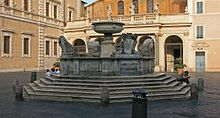 Fountain in Piazza Santa Maria in Trastevere - Wikipedia, the free encyclopedia