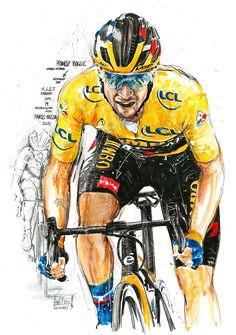 Primoz Roglic, Jumbo Visma, gewinnt die 4., 6. & 7. Etappe der 79. Austragung von Paris Nizza 2021 (100x70cm) Cycling Art, Paris, Superhero, Fictional Characters, Biking, Nice, Road Cycling, Montmartre Paris, Paris France