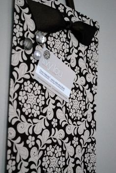 fabric covered magnetic board by Livy Lou Designs