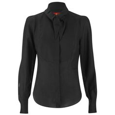 Vivienne Westwood Red Label Women's Linen Smoking Shirt - Black (1.755 BRL) ❤ liked on Polyvore featuring tops, black, vivienne westwood, vivienne westwood top, shirt top, linen shirt and linen tops