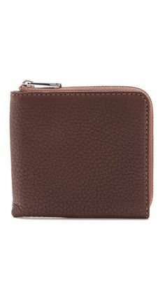 Marc By Marc Jacobs - Brown Classic Half Zip Card Holder Front Pocket Wallet, Zip Around Wallet, Clever Design, Classic Leather, Marc Jacobs, Cool Style, Card Holder, Brown, Cards