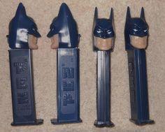 Batman Pez Dark Blue Candy Dispenser Lot of 4 #Pez