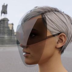 joe doucet creates practical and fashionable face shield with integrated sunglass lenses - Dr Wong - Emporium of Tings. Fashion Face, Fashion Shoot, Fashion Beauty, Parisienne Chic, Shield Design, The New Normal, Normal Life, Homo, Mask Design