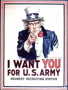 Uncle Sam I Want You Vintage Poster M. Flagg Canvas Print by Retro Movie Posters & Propaganda Art on Intelligent Design, Belle Epoque, Montgomery, War On Drugs, Us History, Design History, No Me Importa, World War I, Us Army