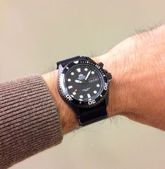 Orient Ray Raven on all black Nato Strap