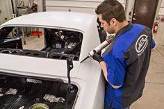 Resto Tech: How To Apply Seam Sealer Correctly! Mustang Restoration, Car Restoration, Diy Paint Booth, Auto Body Work, Pontiac Lemans, Ls Engine, Auto Body Repair, Car Shop, Shop Truck